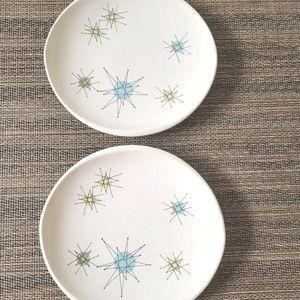 "Franciscan Starburst 6"" Plates Set of 2"